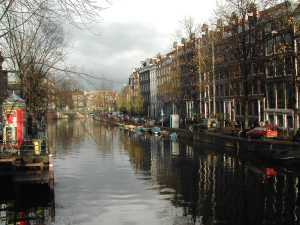 A view of Amsterdam and canals