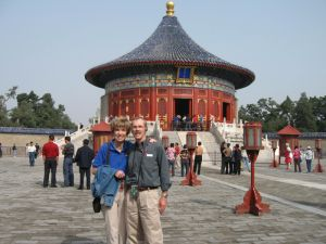 Hugh and Becky at the Temple of Heaven