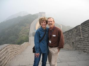 Becky and Hugh on the Great Wall