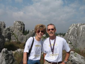 Hugh and Becky at the Stone Forest
