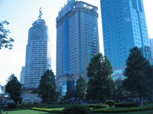Modern buildings in Kunming