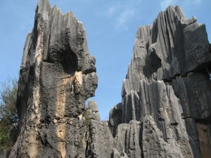 Limestone formations in the stone forest