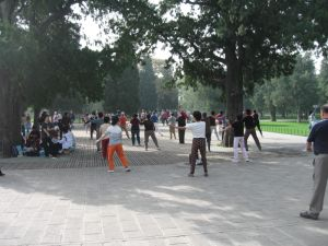 Tai chi at the Temple of Heaven