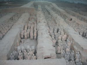 The terra cotta warriors in Pit #1