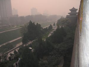 The 600 year old city wall of Xi'an