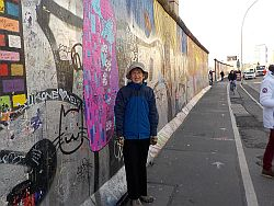 Becky at the Berlin Wall Museum