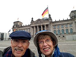 Hugh and Becky at the Reichstag