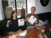 Robin and Hugh earn Whiskey Tasting Certificates