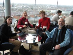 The RHATT at the Gravity Bar at the Guinness Brewery