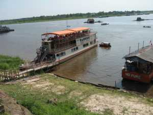 Leaving Iquitos on the Amazon Queen for the Explorama Lodges