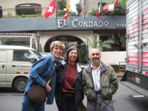 Becky, Robin and Steve at El Condador hotel in Lima