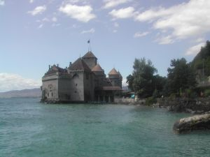 The Chillon Castle on Lake Geneva