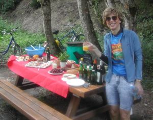 The Picnic: Beer, Wine, Cheese, Meats, Breads, Fruits, Salad and Dessert