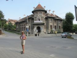 Becky at the Folk Museum in Tulcea, Romania
