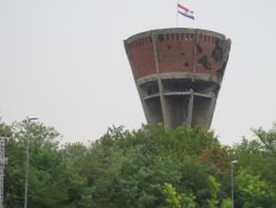 Vukovar bombed water tower memorial