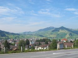 looking at the descent into Appenzell