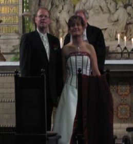 Conrad and Diane during the ceremony