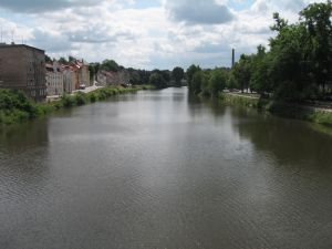 River Neisse Germany on the right Poland on the left