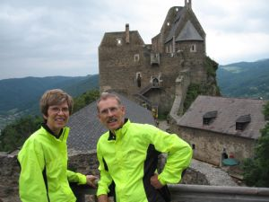 Hugh and Becky at the Aggstein castle