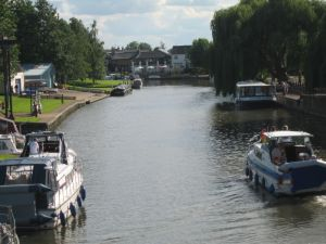 The Ouse River waterfront at Ely