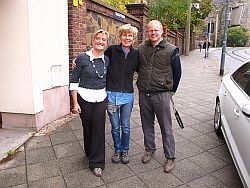 Diane Becky and Conrad leaving Gorlitz