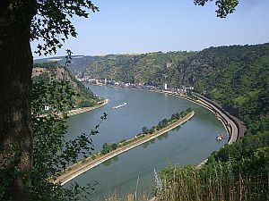 the Rhine from the Loreley
