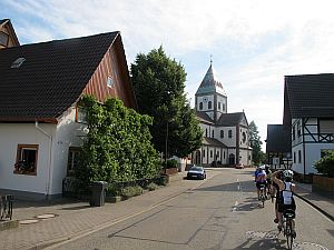 Riding through small German towns