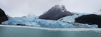 panorama of the Spegazzini Glacier