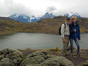 Hugh and Becky in Torres de Paine Nacional Parque