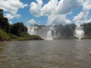 looking at the Argentinian side of Iguassu Falls
