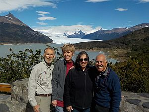 Hugh, Becky, Robin & Steve at the Perito Moreno Glacier