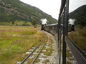 steam train in the national park